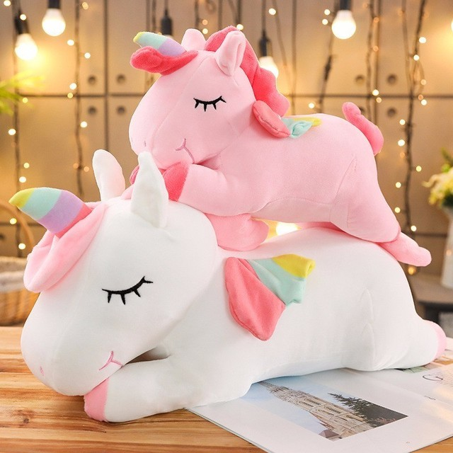 Kawaii Giant Unicorn Plush Toy Soft Stuffed Unicorn Soft Dolls 20-80cm Animal Horse Toys For Children Girl Pillow Birthday Gifts 2