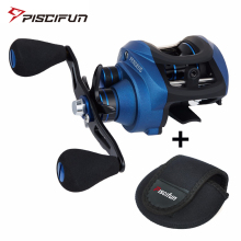 Piscifun Perseus Fishing Reel 8.4KG Max Drag Magnetic brake centrifugal brake 6 Bearings Light fishing Graphite Baitcasting reel