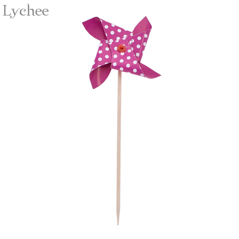 Lychee 30pcs Colorful Mini Windmill Cake Toppers Cupcake Picks Baby Shower Wedding Birthday Party Decoration In Decorating Supplies From Home Garden