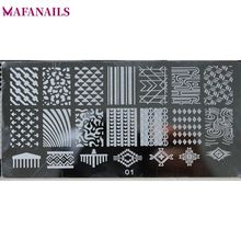 30 Designs 6*12cm Stainless Image Plate NEW 1 pc Nail Stamping Plates Stamping Nail Art Manicure Template Nail Stamp Tools JR-01