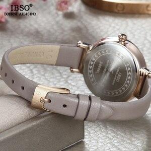 Image 4 - Relógio feminino ibso 8mm, relógio de pulso ultrafino para mulheres, relógio de quartzo na moda 2020 feminino