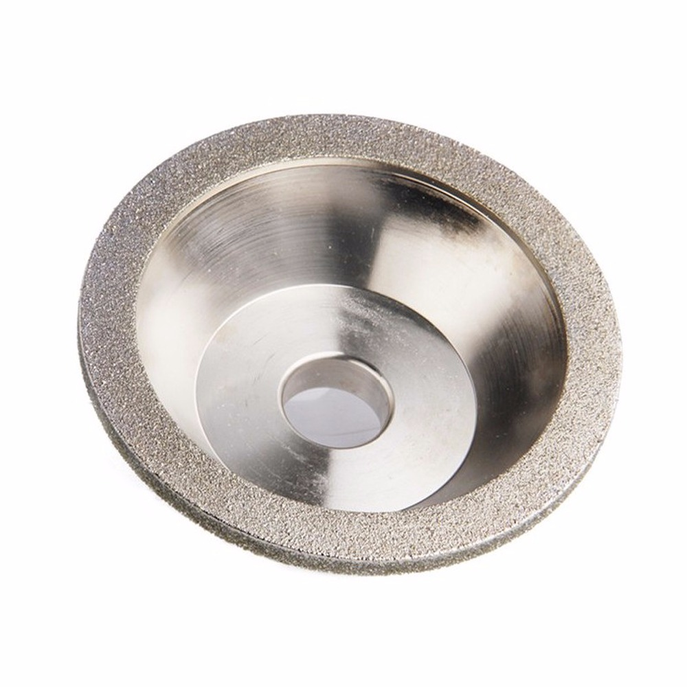 цена на Diamond Grinding Wheel Cup grinding circles for Tungsten Steel Milling Cutter Tool Sharpener Grinder Accessories Outer Dia 100mm