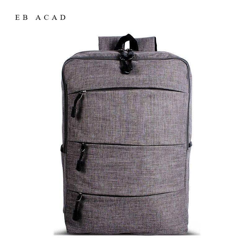 купить Men Fashion Backpack Large Capacity Laptop Backpacks Canvas College Students Bookbag Travel Bag Lesuire Mochila Rucksack онлайн