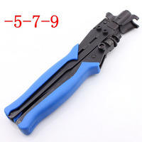5 7 9 Squeeze Pliers RG6 RG11 Crimping Pliers For Cable TV F Connector Dedicated