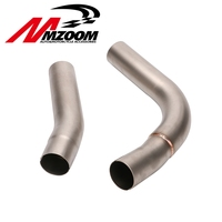 Motorcycle middle of the exhaust pipe motocross mid pipe For YAMAHA YZF R1 YZF R1 2009 2010 2011 2012 2013 2014