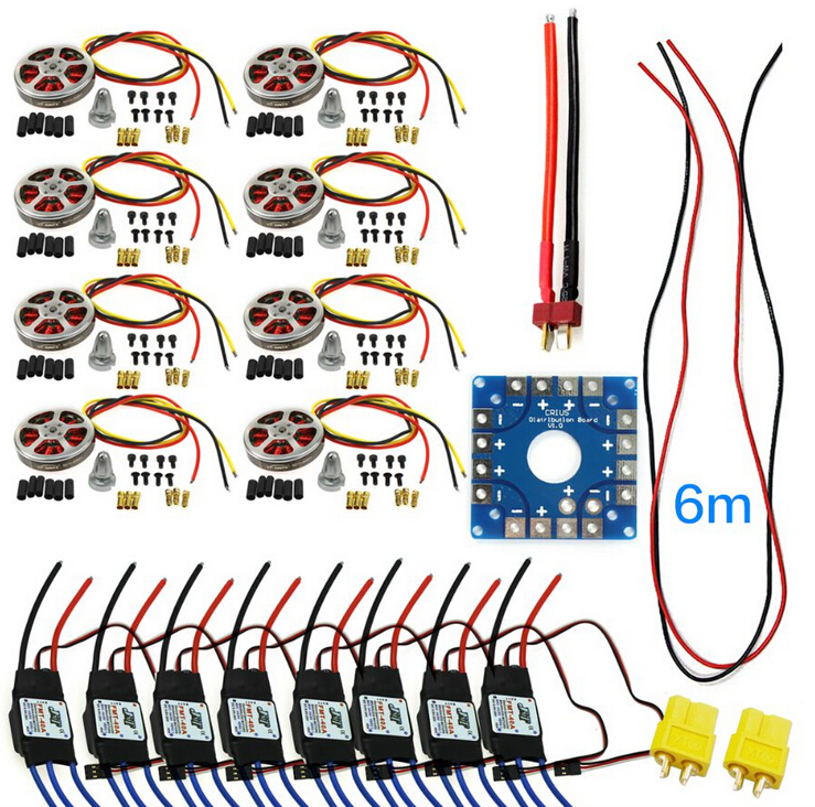 F04997-F JMT Assembled Kit : 40A ESC Controller 350KV Motor Connection Board Wire for 8-axle Drone Multi Rotor Hexacopter 76zy01 mig motor wire feed motor wire feeder motor dc24 1 8 18m min 1pk