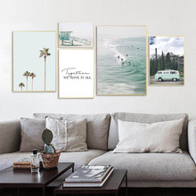 Scenery Canvas Art Print Wall Pictures Nature Poster Nordic Snow Quote Prints Painting Living Room Unframed