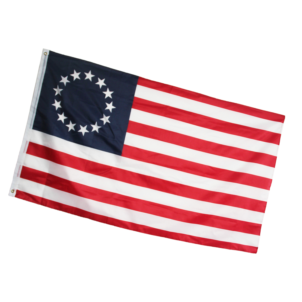 Betsy Ross Historical 13 Star Flag Wholesale lot of 3 Iron On Patch