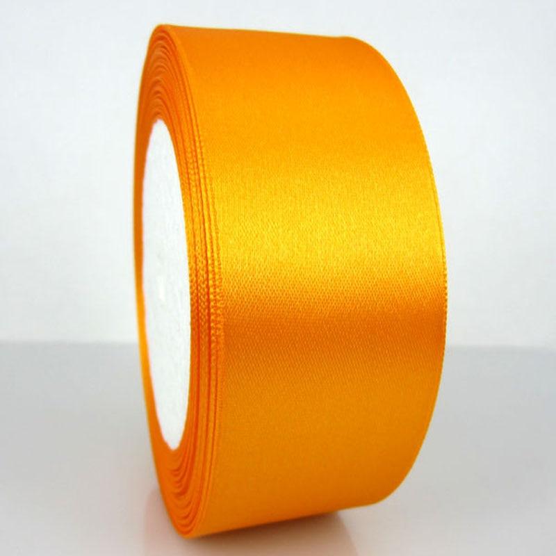 25 ярдов 1 рулон 1-1/2 «широкий оранжевый атласной лентой для упаковки Craft Свадебные украшения ленты лук 38 мм