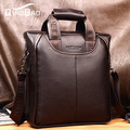 QIAO BAO 2017 Real cowhide handbag shoulder bag messenger bag men messenger bag business bag