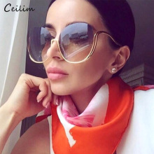 2020 New Rimless Gradient Sunglasses Women Luxury Brand Desi