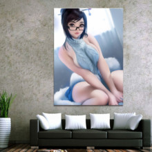Framework Home Decor Modular Canvas Picture 1 Piece Sexy Woman Mei Game Painting Poster Wall For Wholesale