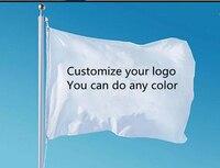 Custom single side flag 100D Polyester we design any logo any color home decoration Custom flag banner