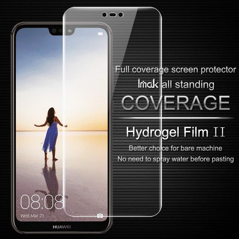 Imak Huawei P20 Lite Écran Protecteur Pleine Couverture Hydrogel II film de protection pour Huawei P20 Lite/Nova 3E pas verre