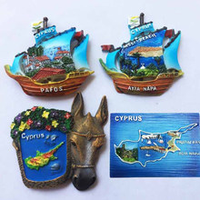 1 Pc Hot sale New Cyprus Map Donkey Sailing 3D Fridge Magnets Tourism Souvenirs Refrigerator Magnetic Sticker Home Decoration(China)