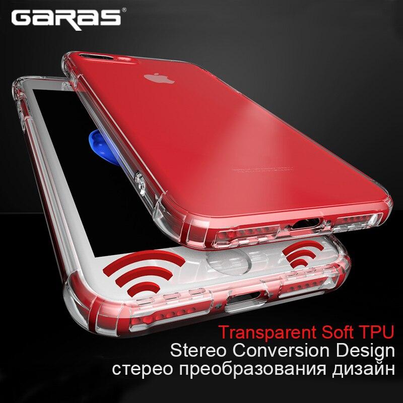 สำหรับiphone 7 6กรณี, GARAS SiliconปกคลุมสำหรับIPhone 6บวกกรณีTPUโทรศัพท์มือถือปกคลุมสำหรับIp Hone 7พลัส6วินาทีSoft Siliconก...