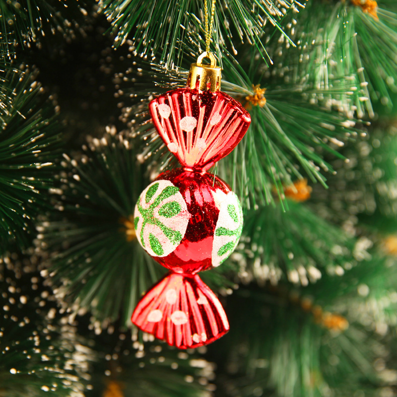 aliexpresscom buy 2018 new style christmas decorations 10cm gold red painted round candy christmas tree decoration pendant 4 packs from reliable - Candy Christmas Tree Decorations