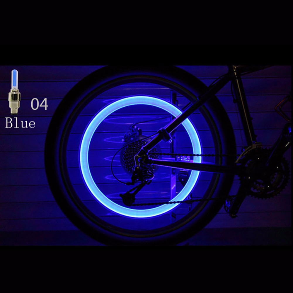 2019 New Arroval Auto Accessories Bike Supplies Neon Blue Strobe Led Tire Valve Caps Lights With Motion Sensors High Quality Materials Accessories