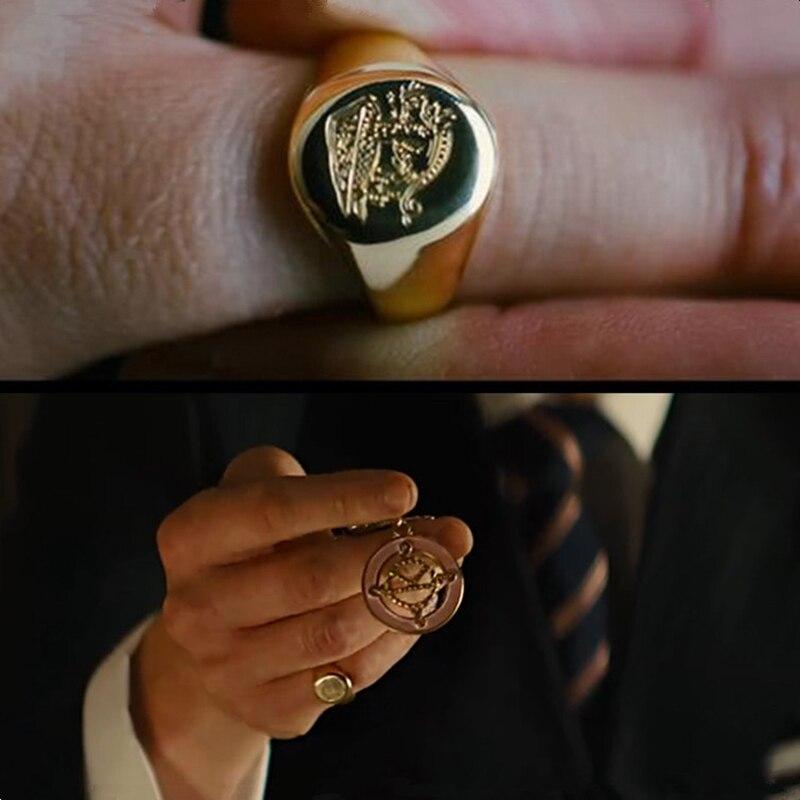 Anillo Kingsman el servicio secreto anillos de sello personalizados para hombres mujeres Cosplay 925 Color plata latón Color oro grabado gratis bien-in Anillos from Joyería y accesorios    1