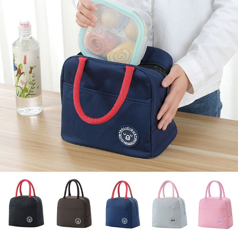 THINKTHENDO 2019 New Fashion Thermal Insulated Lunch Box Dog Bag Tote Pouch Lunch Container