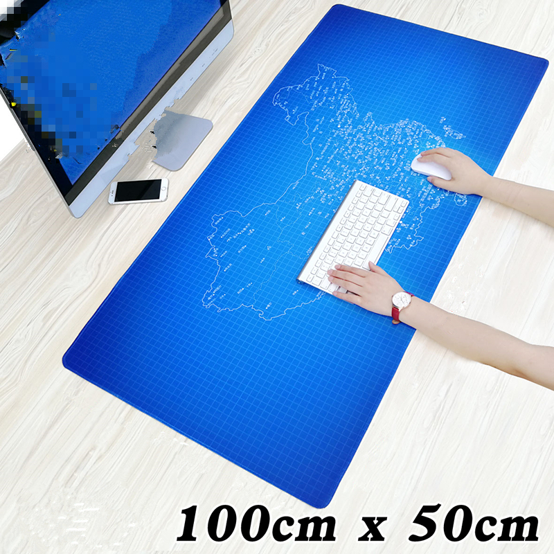 100x50cm Large Gaming Mouse Pad Natural Rubber Precision Lock Edge Mouse Mat for Dota Warcraft LOL CSGO Notebook Mousepad gamer ...