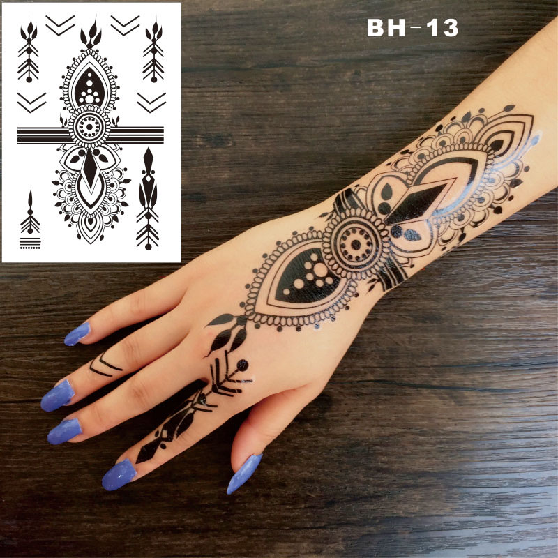 Buy bh 13 funky black boho style henna for Henna body tattoo
