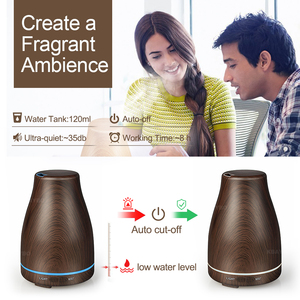 Image 4 - KBAYBO 120ml Aroma Essential Oil Diffuser Ultrasonic Air Humidifier with Wood Grain