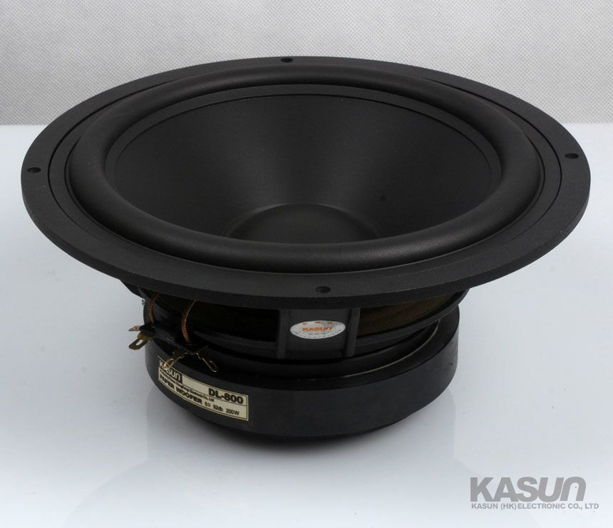 1PCS Kasun DL-800 8'' Subwoofer/Bass Speaker Driver Unit Casting Aluminum Basket Black PP Cone Fs=31Hz 6ohm/200W D217mm
