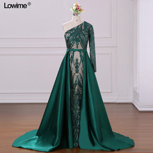 Lowime Turkish Dresses 2018 A-line Fabric Prom Dresses