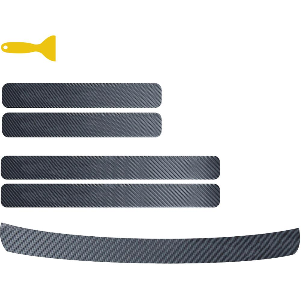 Авто Дверь наклейка из углеродного волокна наклейка на порог устойчивый к царапинам анти-удар углеродного волокна наклейка для багажника а...