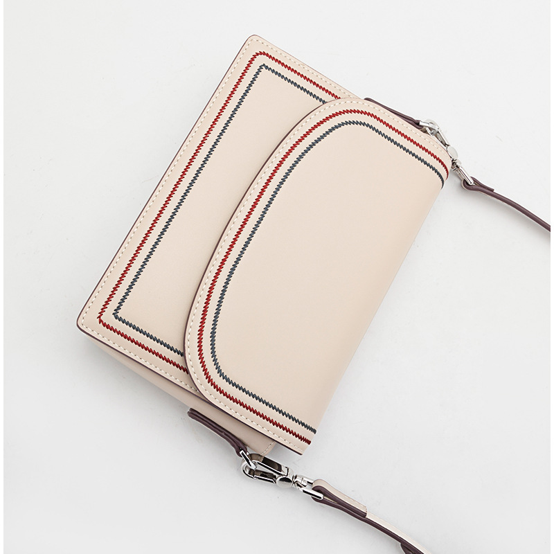 Novas Mulheres Genuínas Sacos de Ombro de Couro Das Senhoras do Desenhador Fio de Grande Capacidade Messenger Bag Crossbody Moda Bolsas 2 cintas - 3