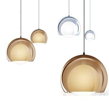 BDBQBL Modern Spherical Pendant Lights Acrylic AC 90-260V LED Bulbs Pendant Lamp Living Room Bedroom Originality Hanglamp