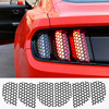 Car Accessories Decoration Honeycomb Beehive Style Cover Paste Rear Tail Light Sticker Film For Ford Mustang