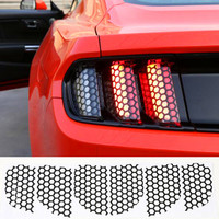Car Accessories Decoration Honeycomb Beehive Style Cover Paste Rear Tail Light Sticker Film For Ford Mustang 2015 2016 2017