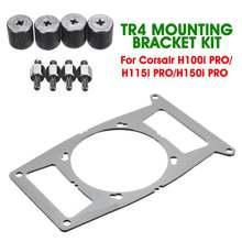 Metalowe TR4 chłodnicy uchwyt montażowy zestaw radiatora procesora wentylator chłodzący do obsługi Corsair Hydro serii H100i PRO/H115i PRO/ h150i PRO
