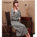 Nightdress Women Cotton +Silk Long Nightgowns Square Collar Loose Long-sleeve Nightwear Lounge Sleepshirts Women Gown