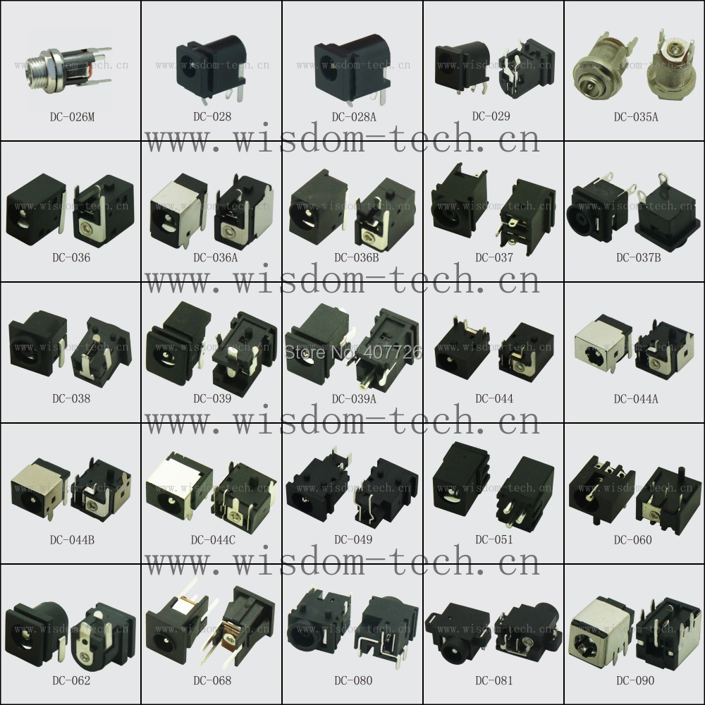 Us 650 Free Shipping 112pcs 56models Dc Jack Tablet Connector Female Power 12v 07 13 25pin In Connectors From Lights Lighting On Femaledc 55dc Cable Product