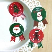 4 STYLE/Vintage Christmas Theme series Badge Design DIY Multifunction Seal Sticker/Gift Sticker/Gift Label vintage girl seal sticker alice series snow white series creative matchbox seal sticker label sticker home decoration stickers