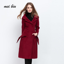 Winter Fashion Women New Keep warm Coat Wool Coats Long Style Slim High quality Wool Coat Loose Super Warm Woolen Coat Women