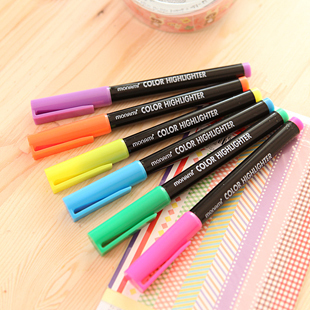 Korea stationery multicolour pen neon pen 6