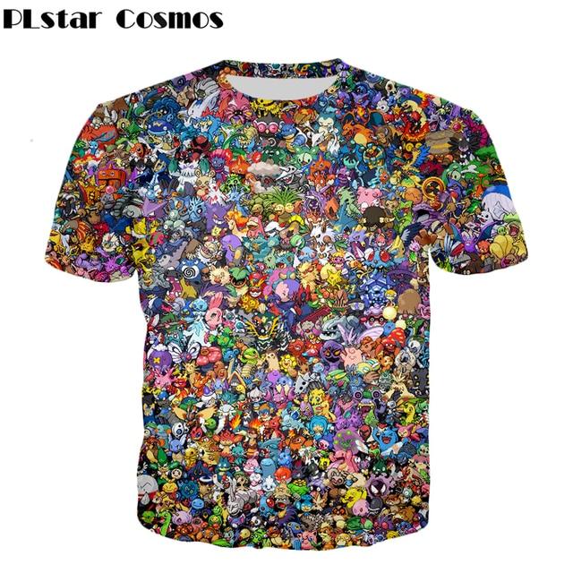 ac091064 PLstar Cosmos Latest design Pokemon Go Men Women T-shirt Fashion Brand  clothing Pikachu 3d print t shirt summer casual tops