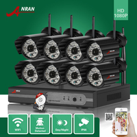 ANRAN 3TB HDD H8CH P2P HDMI 1080P WIFI NVR 48IR Waterproof Outdoor Wireless IP Camera Surveillance