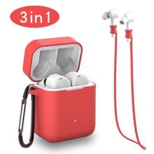 3 IN 1 Air Case Anti verloren Band Karabijnhaak Voor Xiaomi Airdots Pro AIR TWS Draadloze Bluetooth Oortelefoon tassen voor Xiaomi Airdots Pro