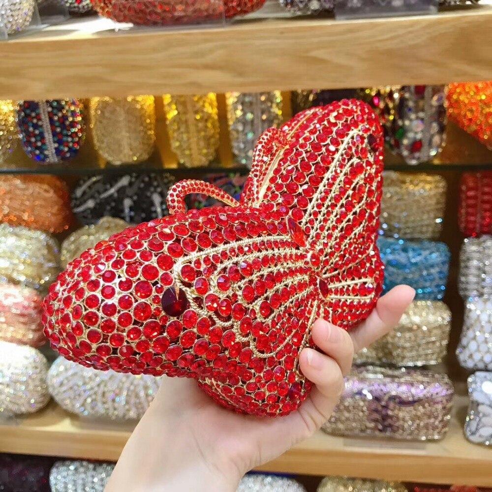 À Color Xiyuan Strass Femmes Mariage As Lady Luxueux Pictur Pictur color Coloré Sacs Papillon Forme Marque Sac Main Day Soirée Perles De Embrayages Same rrTwqUC