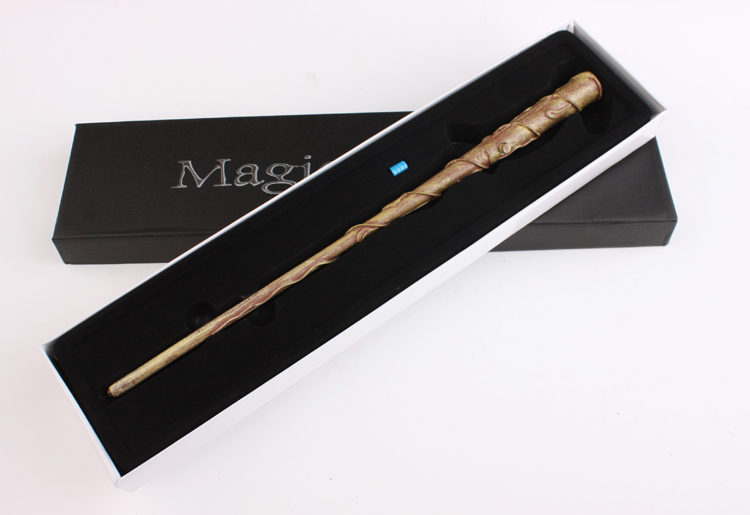 New Harry Potter Cosplay Hogwarts Hermione Granger LED Light UP Mediumistic Magic Wand Slughorn Free Shipping Sale