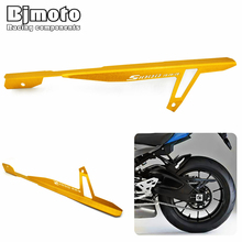Bjmoto Free shipping 4colors CNC Rear Belt Chain Guard Cover For BMW S1000RR 2010-2016 S1000R 2014-2016 HP4 2012-2016 motorcycle