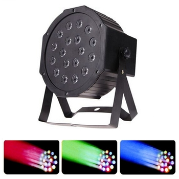 100% New Professional DMX512 LED Stage Lights 18 RGB PAR LED DMX Stage Lighting Effect Led Flat for DJ Disco Party Wedding KTV free shipping usb to dmx interface adapter led dmx512 computer pc stage lighting controller dimmer for dj ktv party