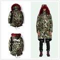 17ß off white CAMUFLAGEM PARKA Inverno Homens Duck Down Coats & Jackets Engrossar Quente Com Capuz Outwear Plus Size