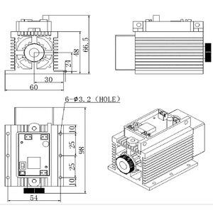 Image 4 - גבוהה כוח 15 w לייזר חריטת מודול 445nm 450nm כחול דיודה לייזר ראש 15000mW 15 w לייזר DIY סימן על מתכת CNC חותך מכונה