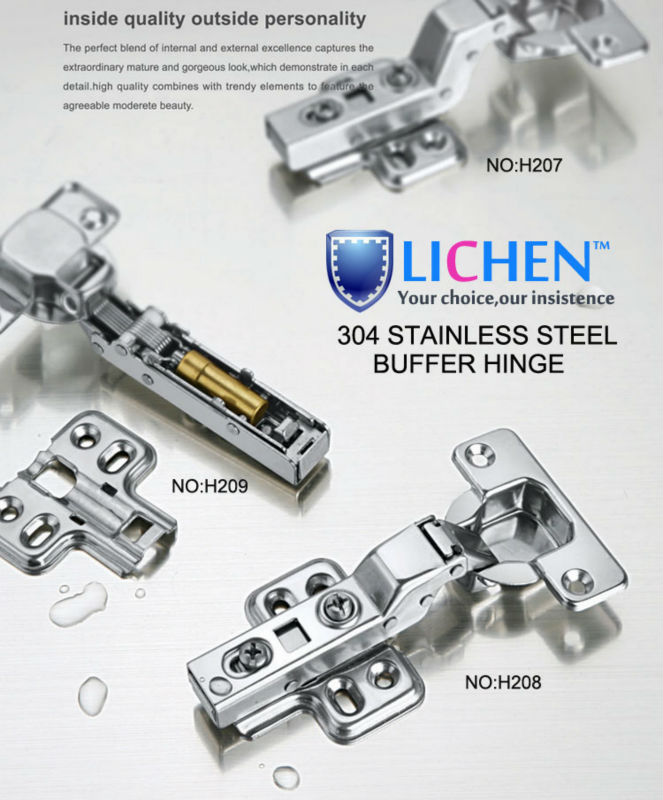 (4 Pieces/lot)LICHEN105 Degree 304 Stainless Steel Embed Hinges Soft Close Hinges  Cabinet Cupboard Hinges In Cabinet Hinges From Home Improvement On ...